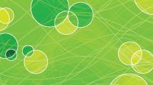 Círculos verdes con bordes blancos