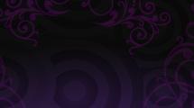 Círculos y adornos en fondo violeta