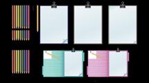 Cuadernos y lápices