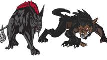 Cuatro logos salvajes
