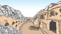 Cuevas antiguas con rocas