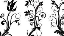 Decoraciones florales con espirales