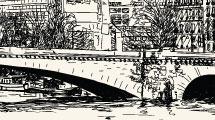 Dibujo a lápiz de ciudad