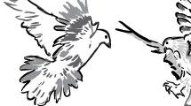 Dibujo artístico de palomas