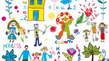 Dibujos infantiles a puro color