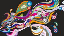 Diseño abstracto con formas en color