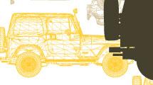 Diseño con silueta de Jeep