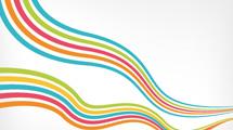 Dos ondas con líneas de colores