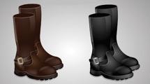 Dos pares de botas de cuero