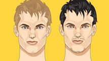 Dos rostros masculinos con pequeñas diferencias