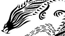 Dragón tribal largo