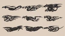 Dragones tribales chinos en varios modelos
