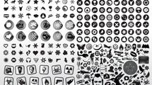 Elementos de diseño en negro