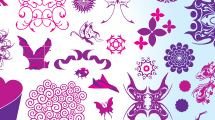Elementos de diseño: Formas variadas en rosa