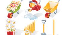 Elementos de jardinería variados