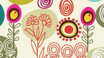Elementos florales abstractos