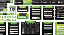 Elementos web en verde y negro