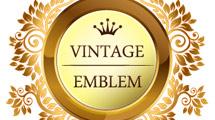 Emblema dorado ornamental