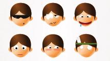 Emoticones vectoriales