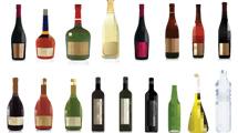 Enorme paquete de botellas vectoriales