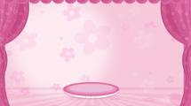 Escenografía rosada