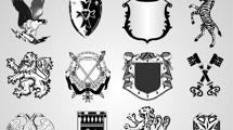 Escudos heráldicos negros