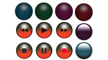 Esferas como Botones