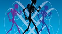 Esqueleto caminando