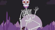 Esqueleto tomando