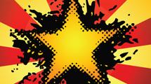 Estrella grunge amarilla