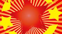 Estrella grunge en color rojo
