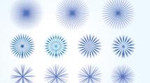 Estrellas circulares abstractas