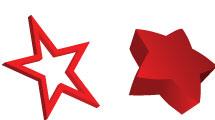 Estrellas en rojo y plata