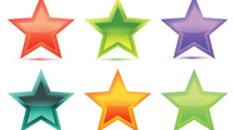 Estrellas glossy