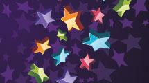 Estrellas multicolores