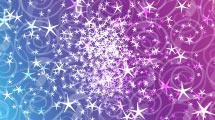 Estrellas sobre fondo violeta y azul