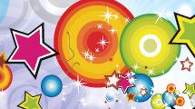 Estrellas y formas a color