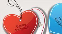 Etiquetas corazón