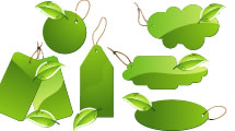 Etiquetas de Hojas Verdes