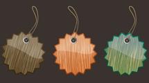 Etiquetas de madera con puntas