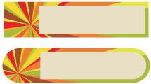 Etiquetas multicolores