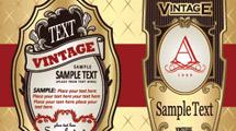 Etiquetas vintage variadas
