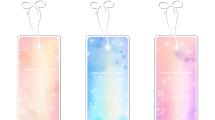 Etiquetas y banners en colores pastel