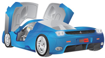 Ferrari Enzo en color celeste