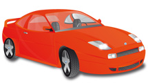 Fiat Coupe 20v rojo