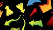 Flechas coloridas en 3D