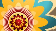 Flor abstracta multicolor
