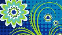 Flor Azul y Verde