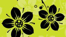 Floral verde vibrante