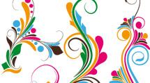 Flores abstractas a color